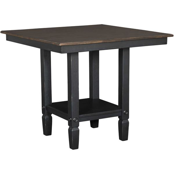 Glennwood Square TwoTone Counter Height Table In BlackCharcoal GW - Counter height table for two