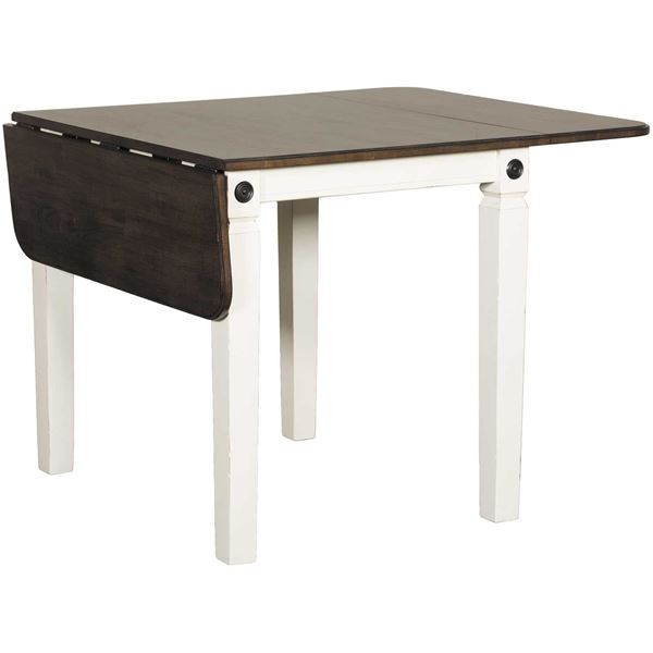 glennwood two-tone drop leaf dining table in white/charcoal gw-rwc Charcoal Dining Table