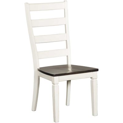 Picture of Glennwood Two-Tone Side Chair in White/Charcoal