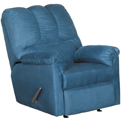 Darcy Dark Blue Rocker Recliner