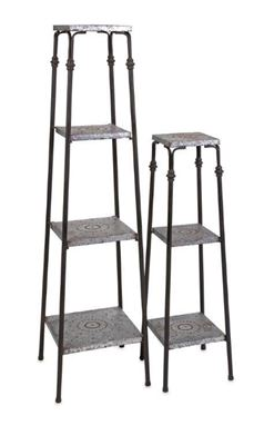 Imagen de Set of Two Galvanized Shelves