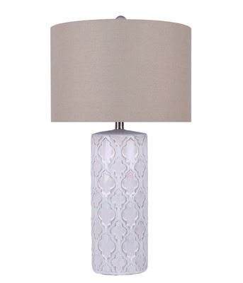 Picture of White Ceramic Design Table Lamp