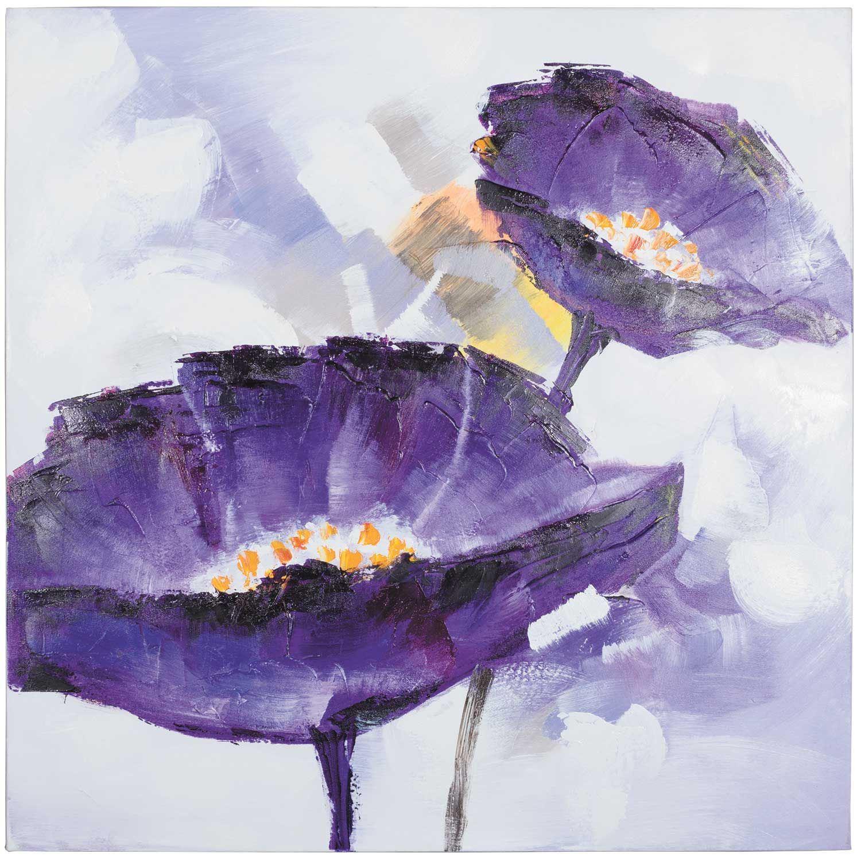 Konda Art Framed Handmade Purple Flower Oil Painting On: Flowers Ideas For Review
