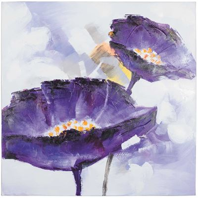 Imagen de Purple Flowers Oil Painting