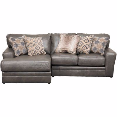 Imagen de Denali 2 Piece Italian Leather Sectional with LAF Chaise