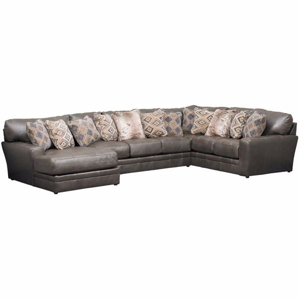 Denali 3 Piece Italian Leather Sectional with LAF Chaise  sc 1 st  AFW : leather chaise couch - Sectionals, Sofas & Couches