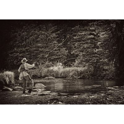 Fly Fishing Perfection- Sepia 48x32