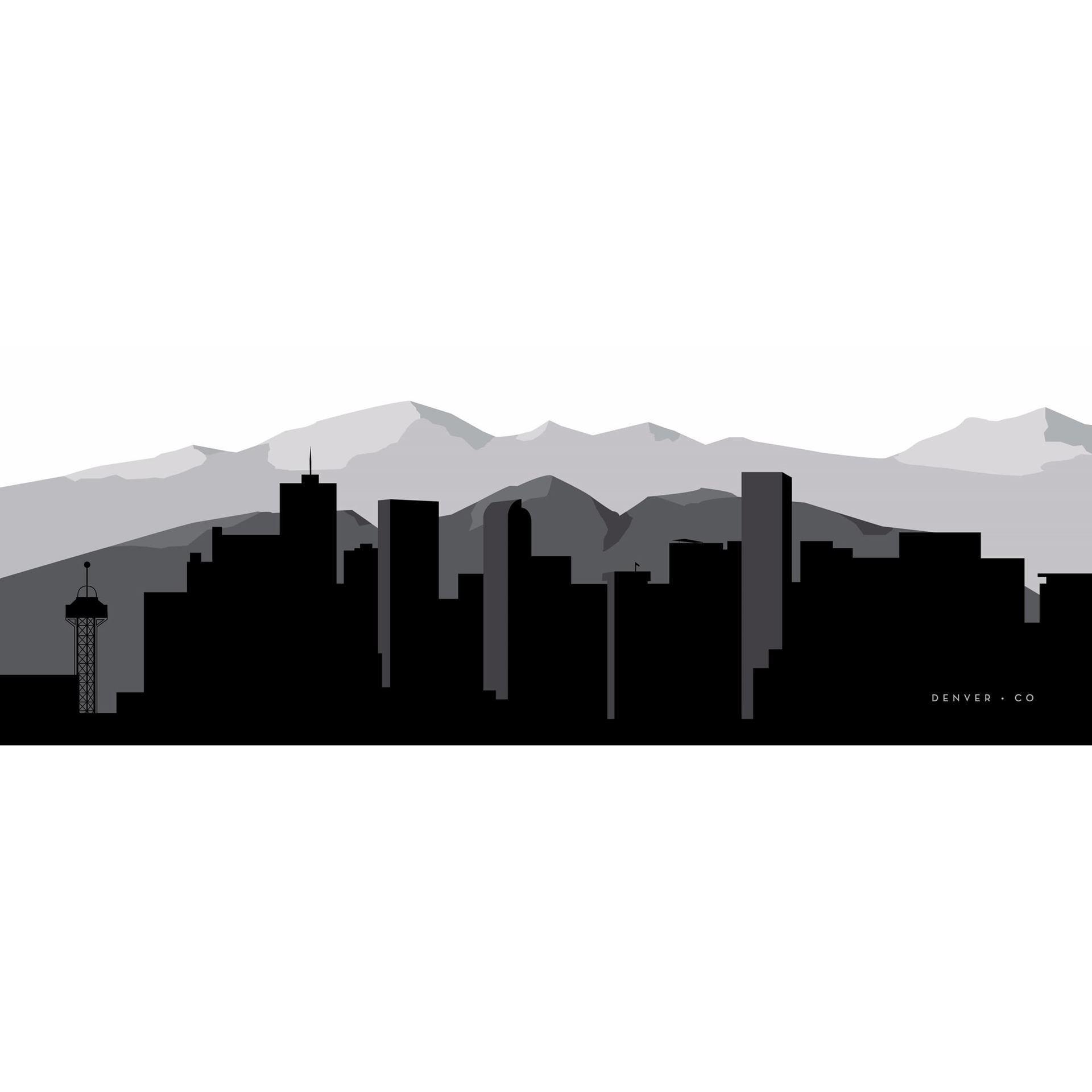 denver graphic skyline 60x20 125