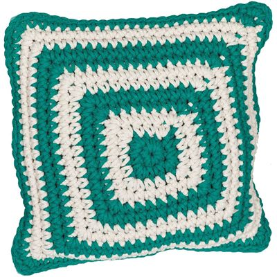 Picture of Green Cotton Rope Pillow