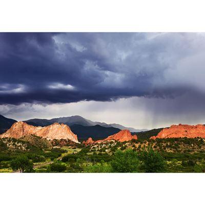 Rain Over The Rockies 48x32