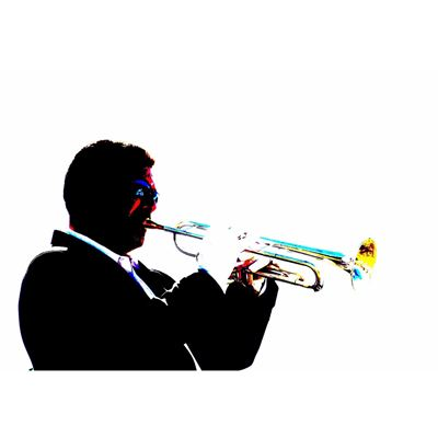 Trumpet Jazz Player 36x24