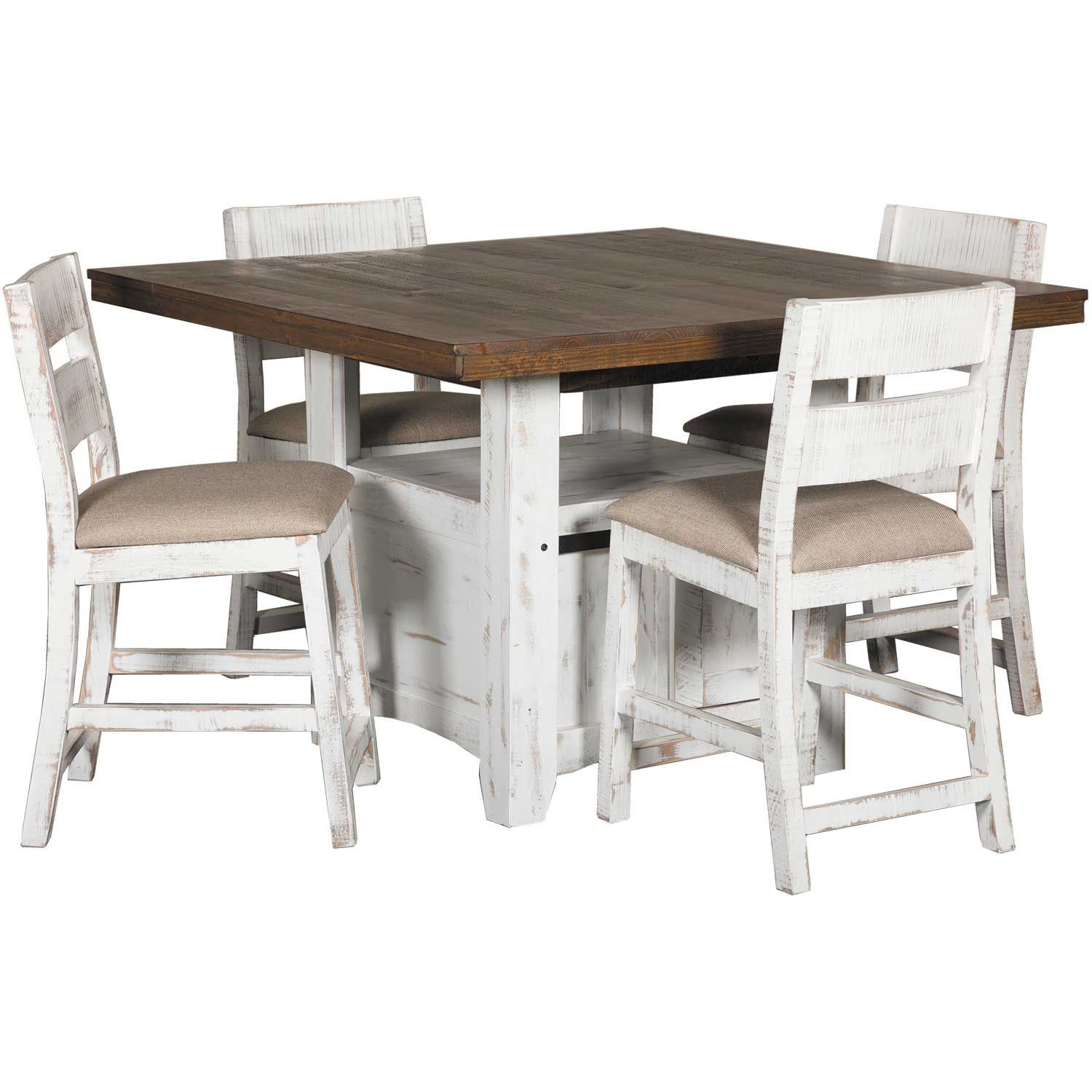 Pueblo Counter Height Dining Table With Chairs By Ifd