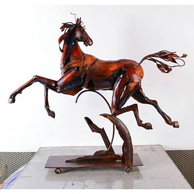 Imagen de Horse Metal Sculpture