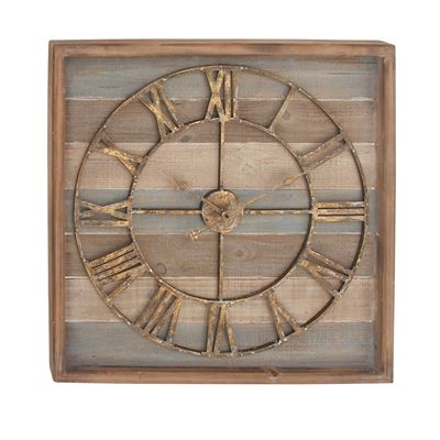 Picture of Blue Wood Wall Clock