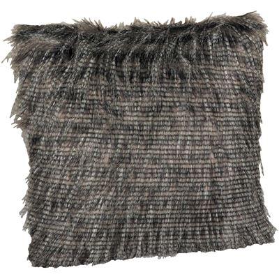 Picture of 20x20 Black Pheasant Faux Fur Pillow
