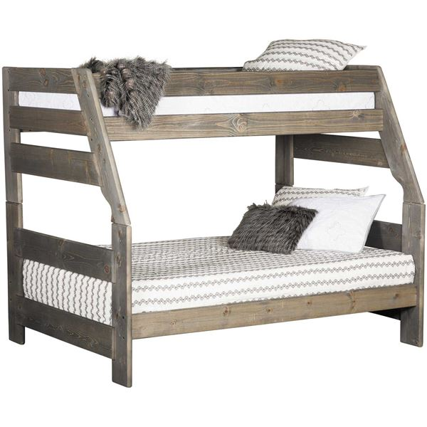 Cheyenne Driftwood Twin Over Full Bunk Bed Dw 4720 Dw