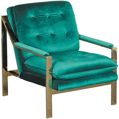 Picture of Colette Tufted Emerald Gold Chair