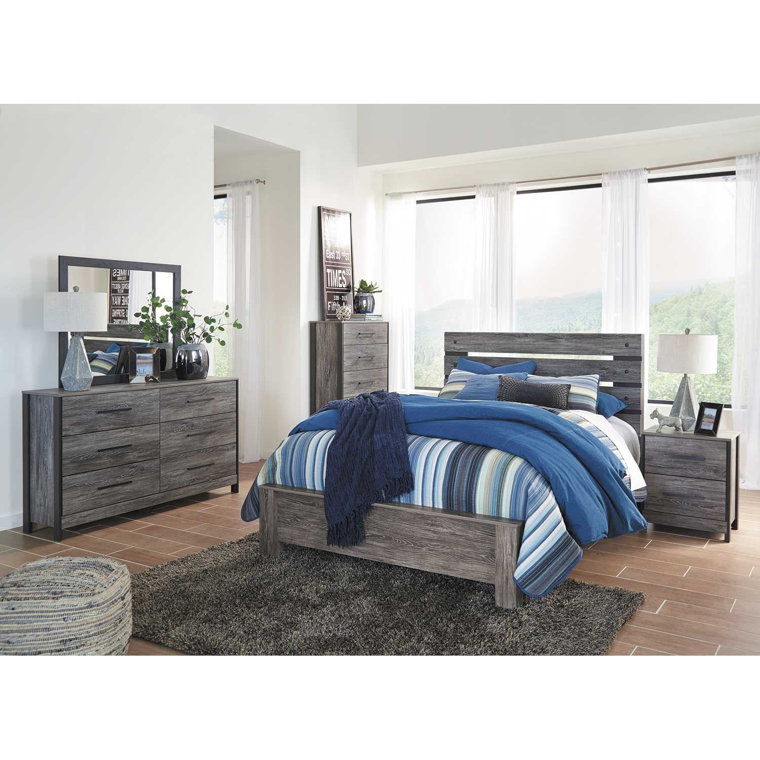 Cazenfeld Queen Panel Bed B227 54 Ashley Furniture Afw