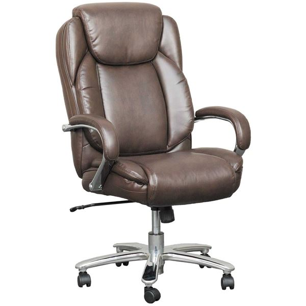 Brown Bonded Leather Executive Office Chair