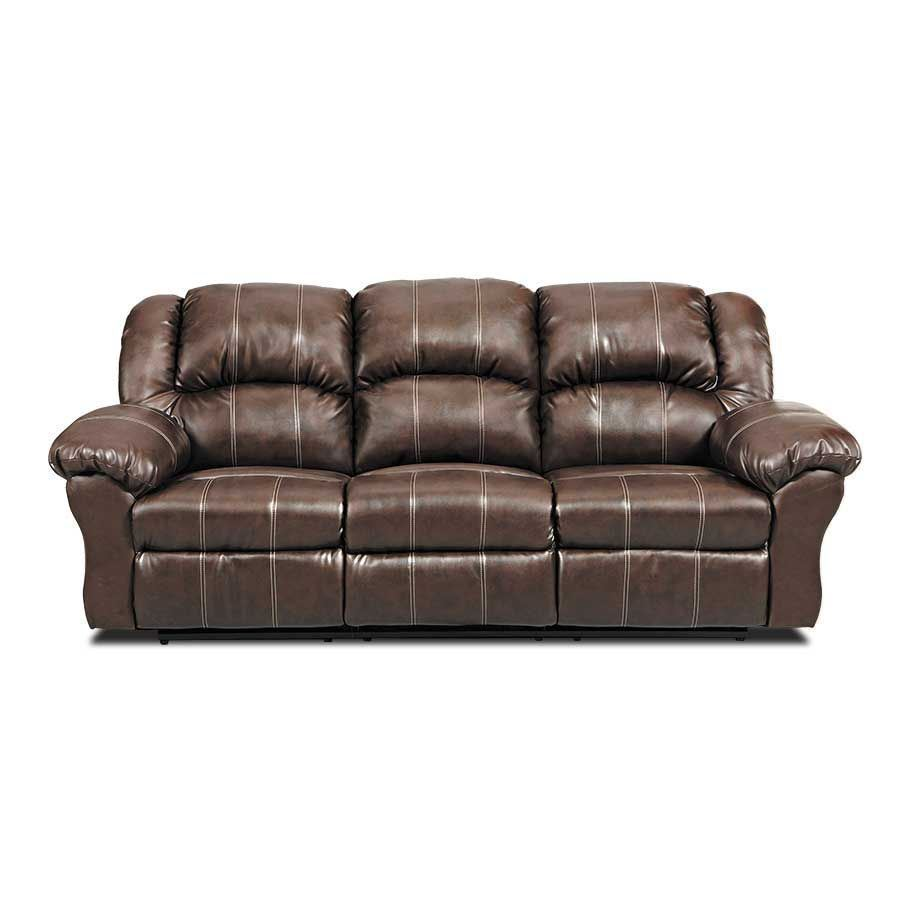 Brandon brown reclining loveseat sofa pf brnrec 1000 for Affordable furniture brandon