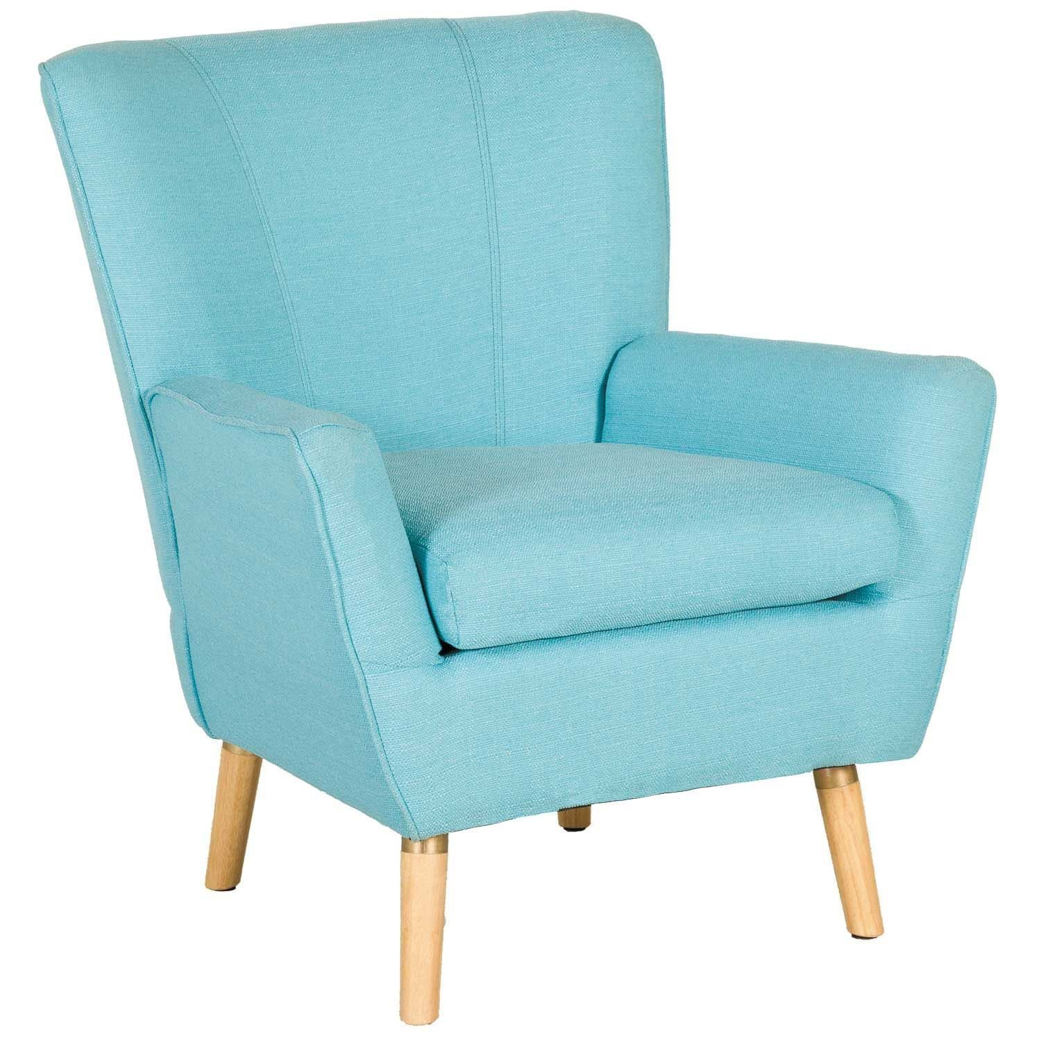 Mara Blue Accent Chair 1g 6020 Modern Amp Retro Accent