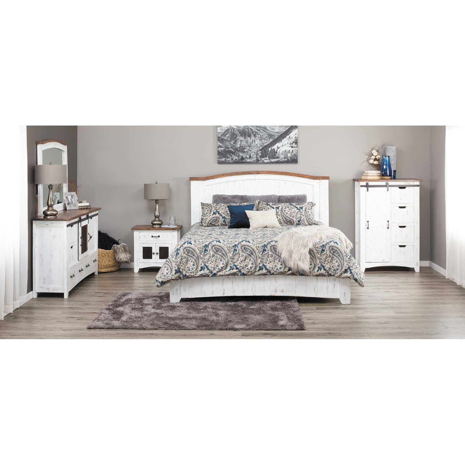 Pueblo White 5 Piece Bedroom Set