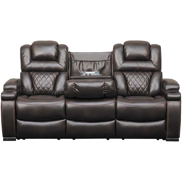 Ashley Furniture Showroom Locations: Warnerton Power Reclining Sofa With Drop Table