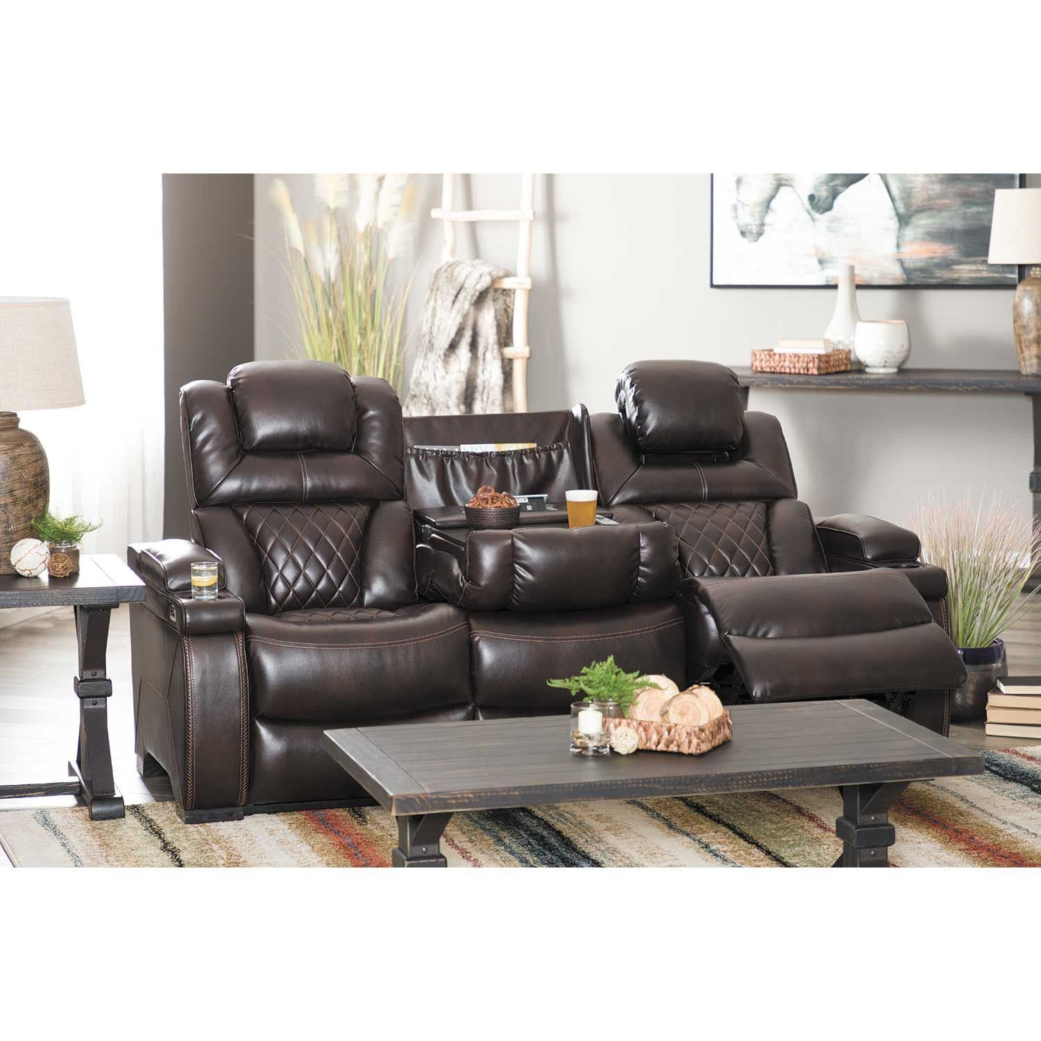Ashley Furniture Stores Locations: Warnerton Power Reclining Console Loveseat With Adjustable