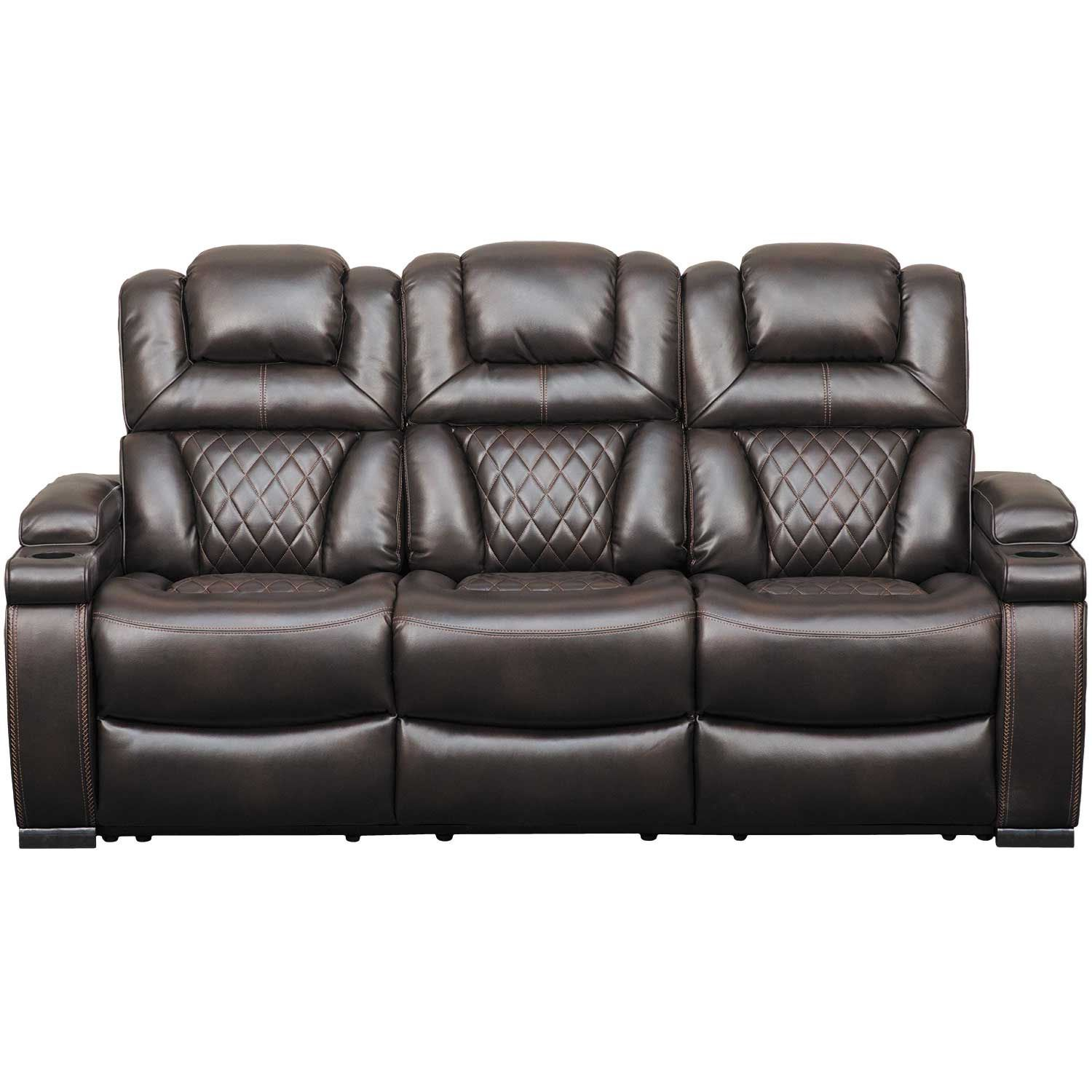 Picture Of Warnerton Reclining Sofa With Drop Table