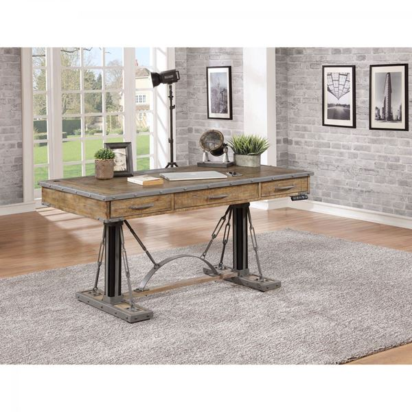 artisan revival 60 inch sit and stand desk - Desk Home Office Furniture