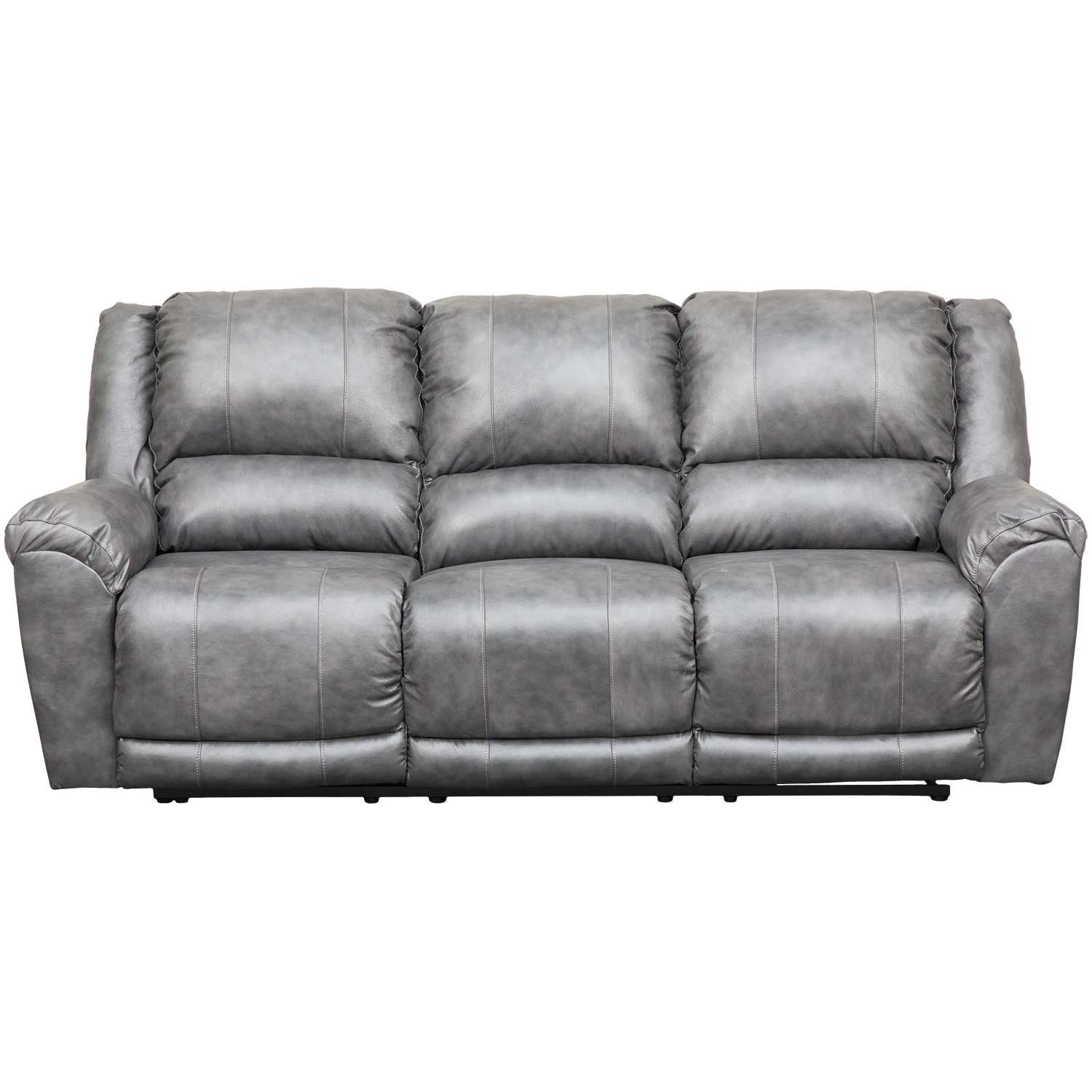 Picture Of Persiphone Charcoal Leather Reclining Sofa