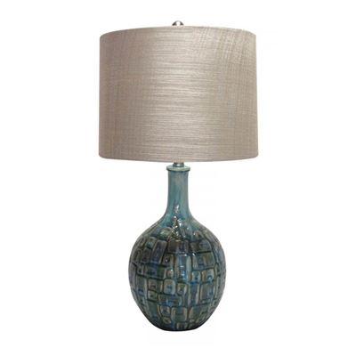 Imagen de Teal Ceramic Table Lamp