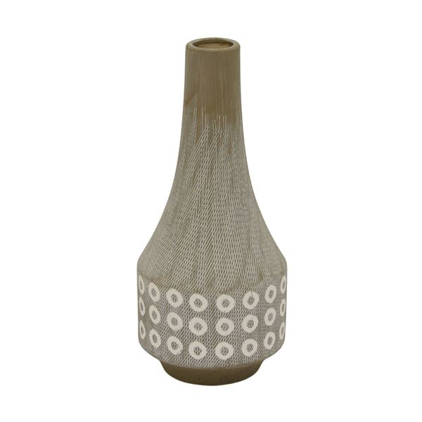 Natural Ceramic Vase 23394 Cp2 Three Hands Corporation Afw