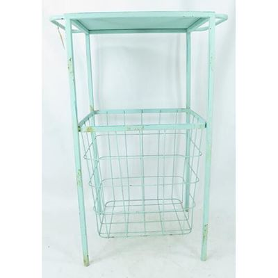 Picture of Mint Blue Basket Table