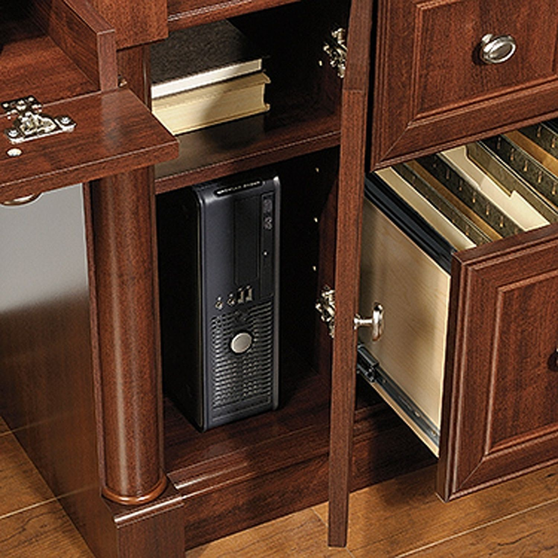 Palladia Computer Desk And Hutch Select Cherry 420513