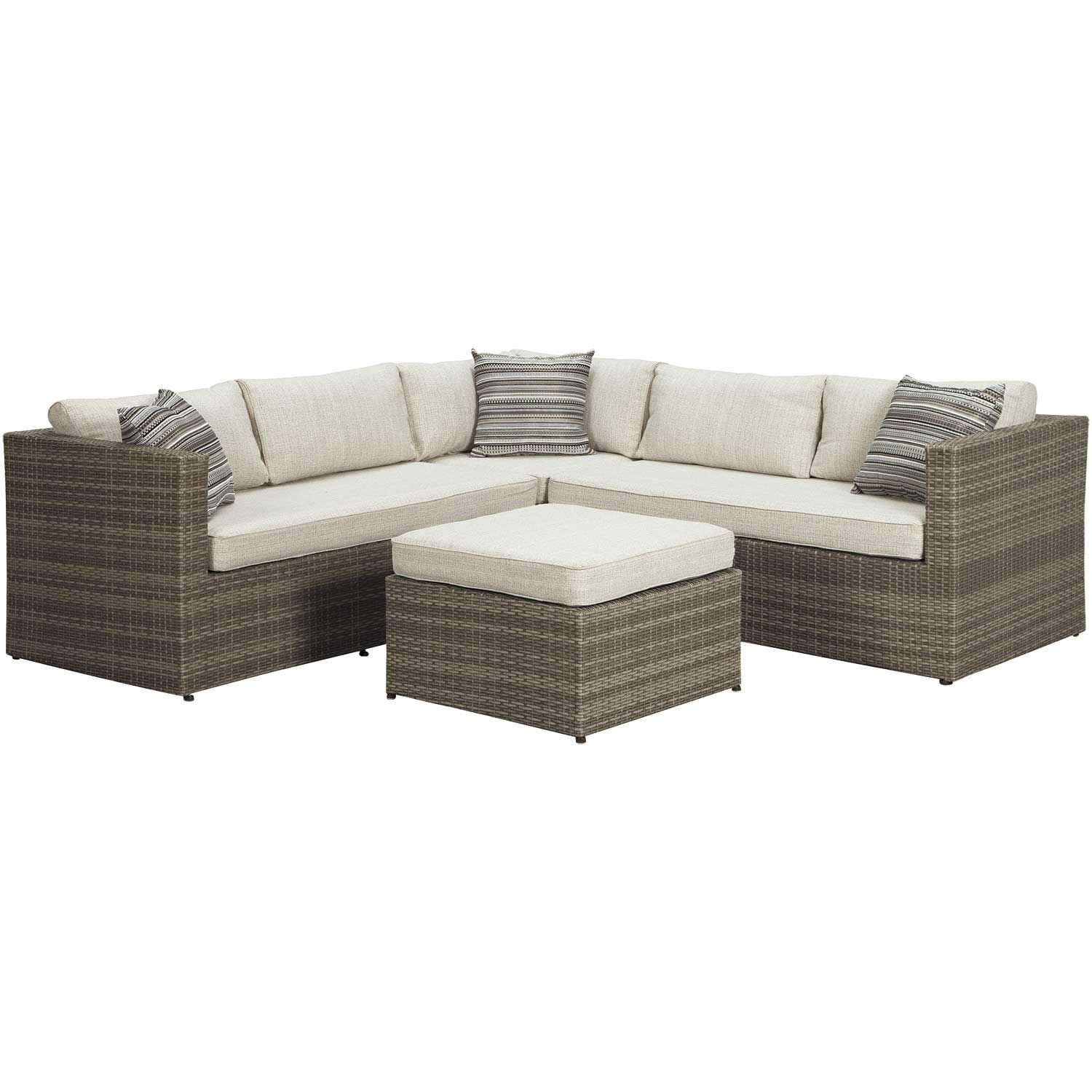 Outdoor Furniture Covers Near Me: Peckham Park 5 Piece Sectional P320-SECT