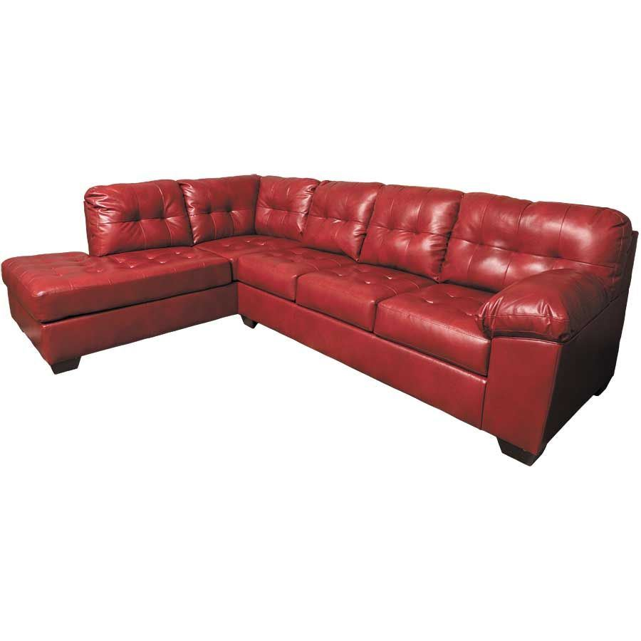 Alliston Salsa 2pc Sectional With Laf Chaise 0n0 201lc 2pc Ashley Furniture Afw