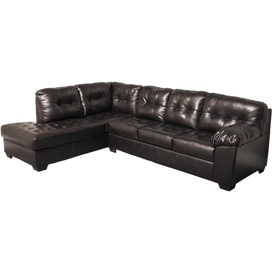 alliston chocolate 2pc sectional w laf chaise 0n1 201lc. Black Bedroom Furniture Sets. Home Design Ideas