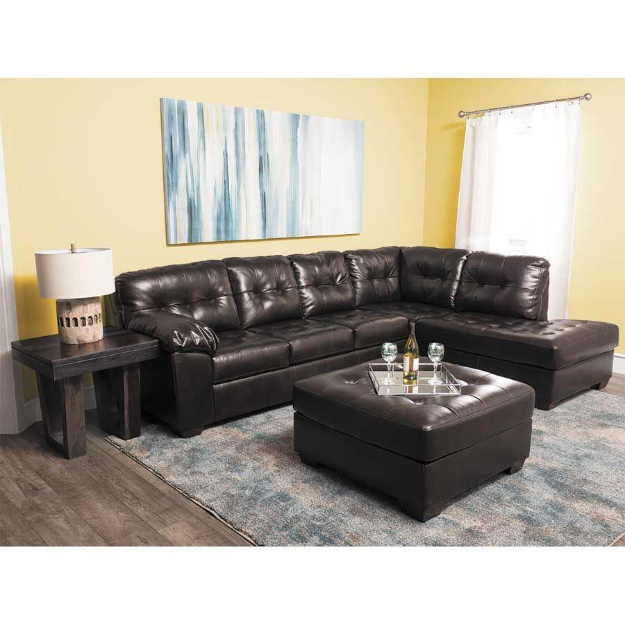 Ashley Furniture Sales Ads: Alliston Chocolate 2PC Sectional W/ RAF Chaise 0N1-201RC