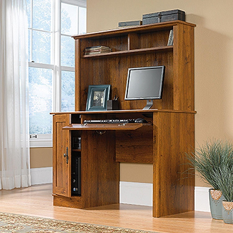 Harvest Mill Computer Desk W Hutch Abbey Oak D 404961