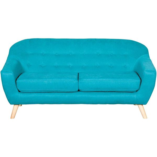 Kinsley Teal Tufted Sofa