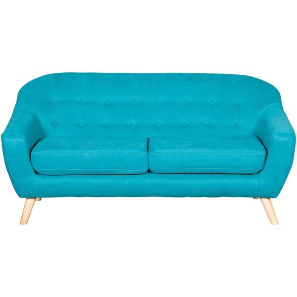 Kinsley Teal Tufted Sofa