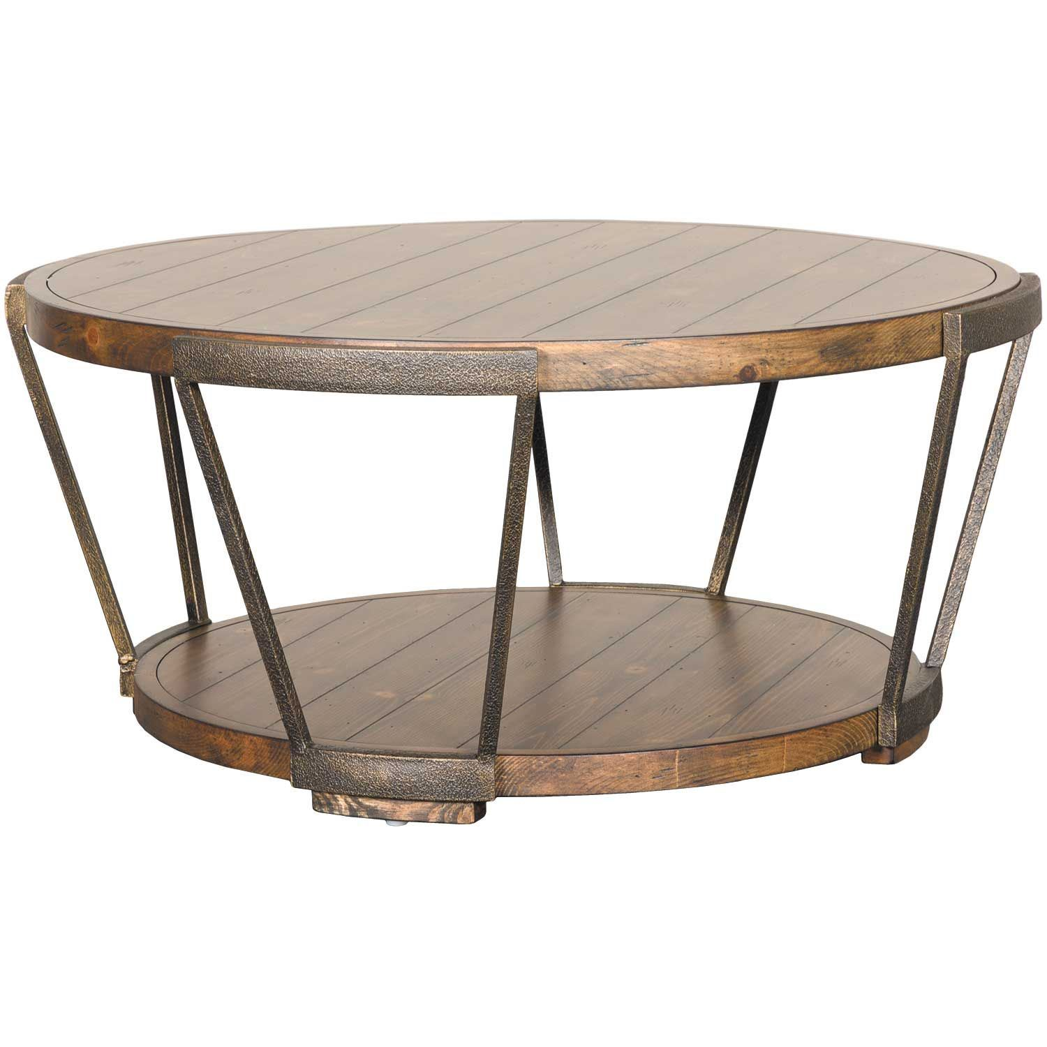 Magnussen Home Cranfill Round Cocktail Table: Yukon Round Cocktail Table