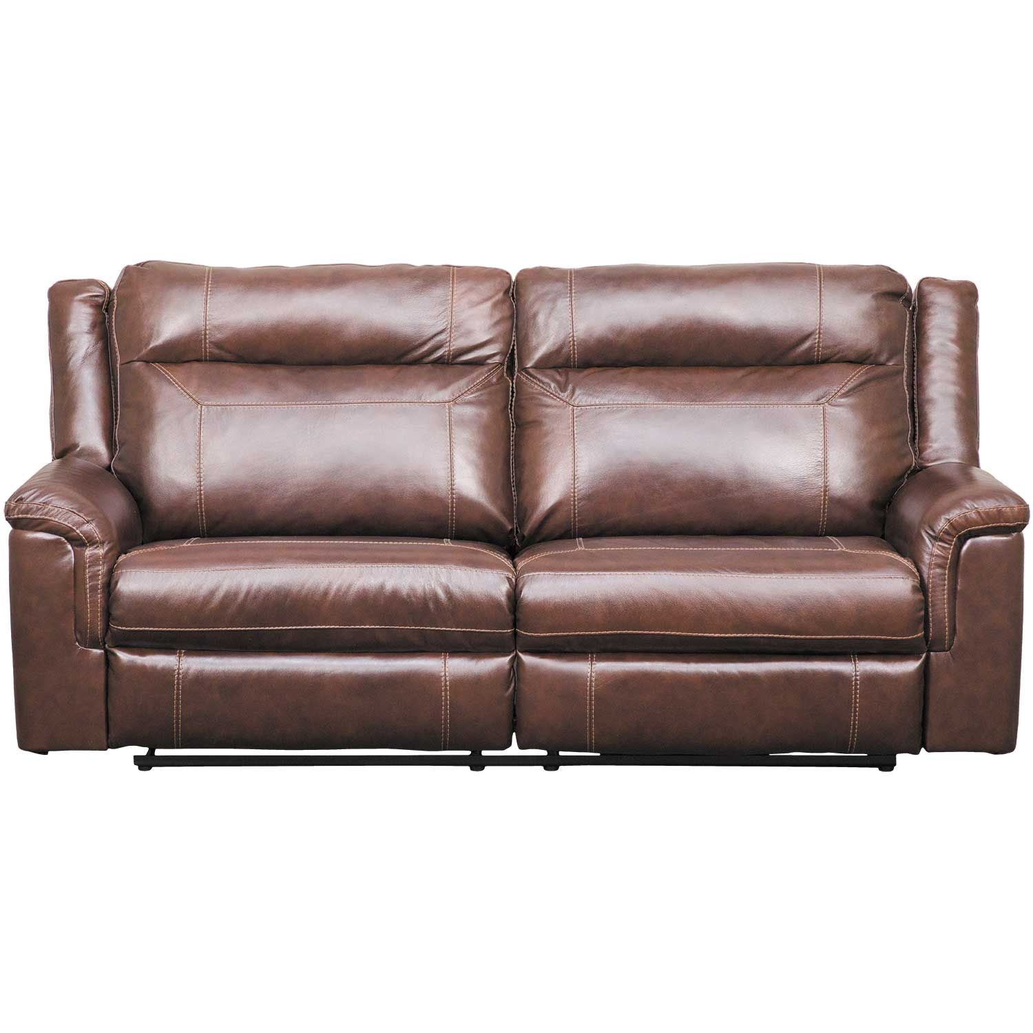 Picture Of Wyline Leather Reclining Sofa With Adjule Headrest