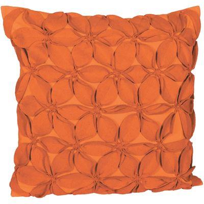 Picture of 18x18 Orange Felt Petals Pillow