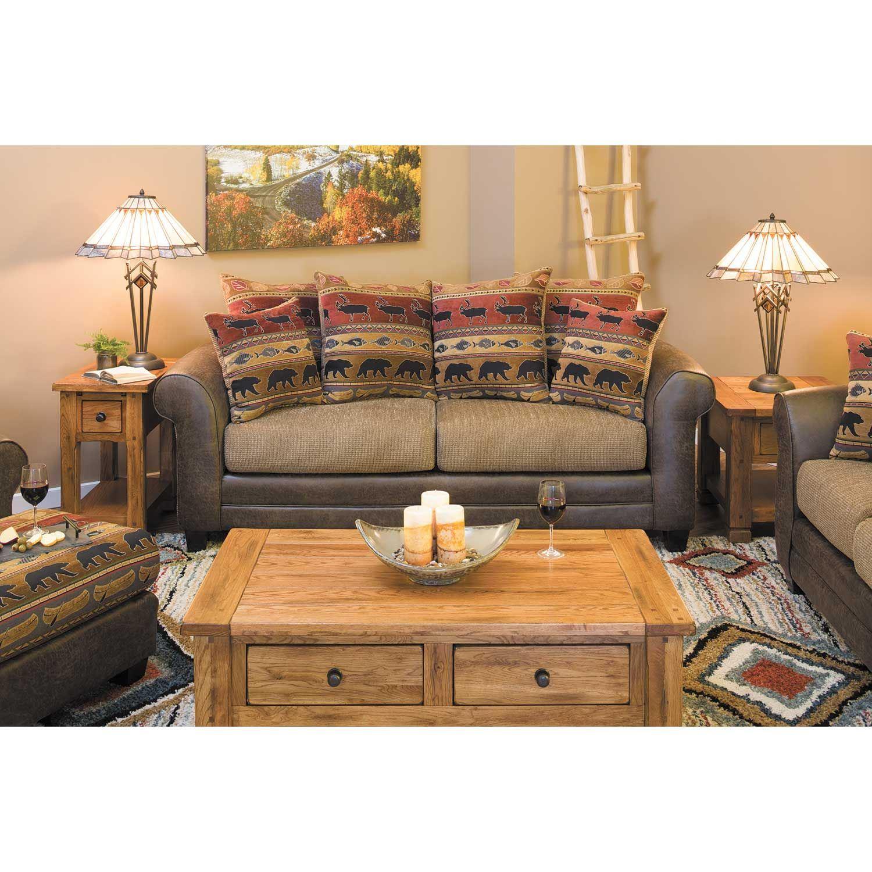 Bear Collage Sofa 630 Palance Mink Fusion Furniture Afw
