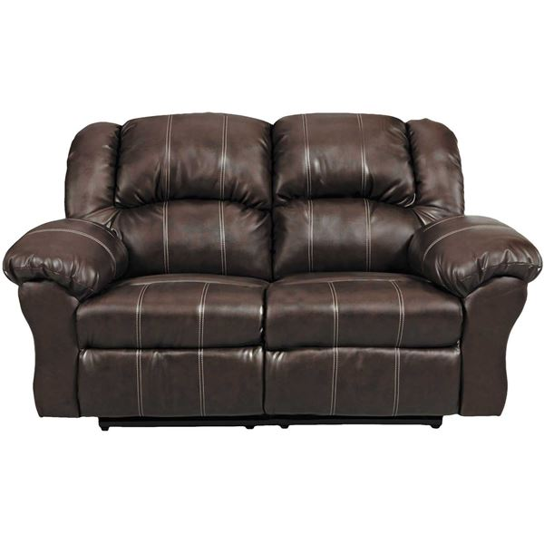 Brown reclining loveseat m 1002 affordable furniture afw for Affordable furniture brandon