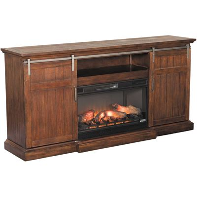 Imagen de Cabaret Media Fireplace in Vintage Oak