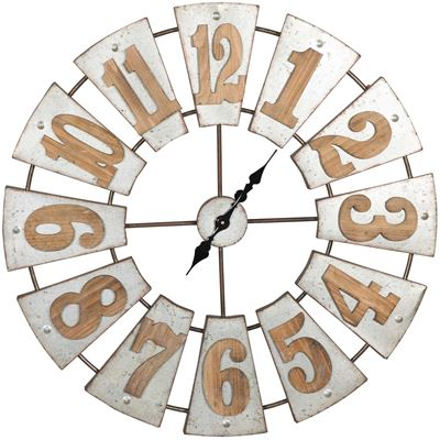 Imagen de Wood and Metal Clock