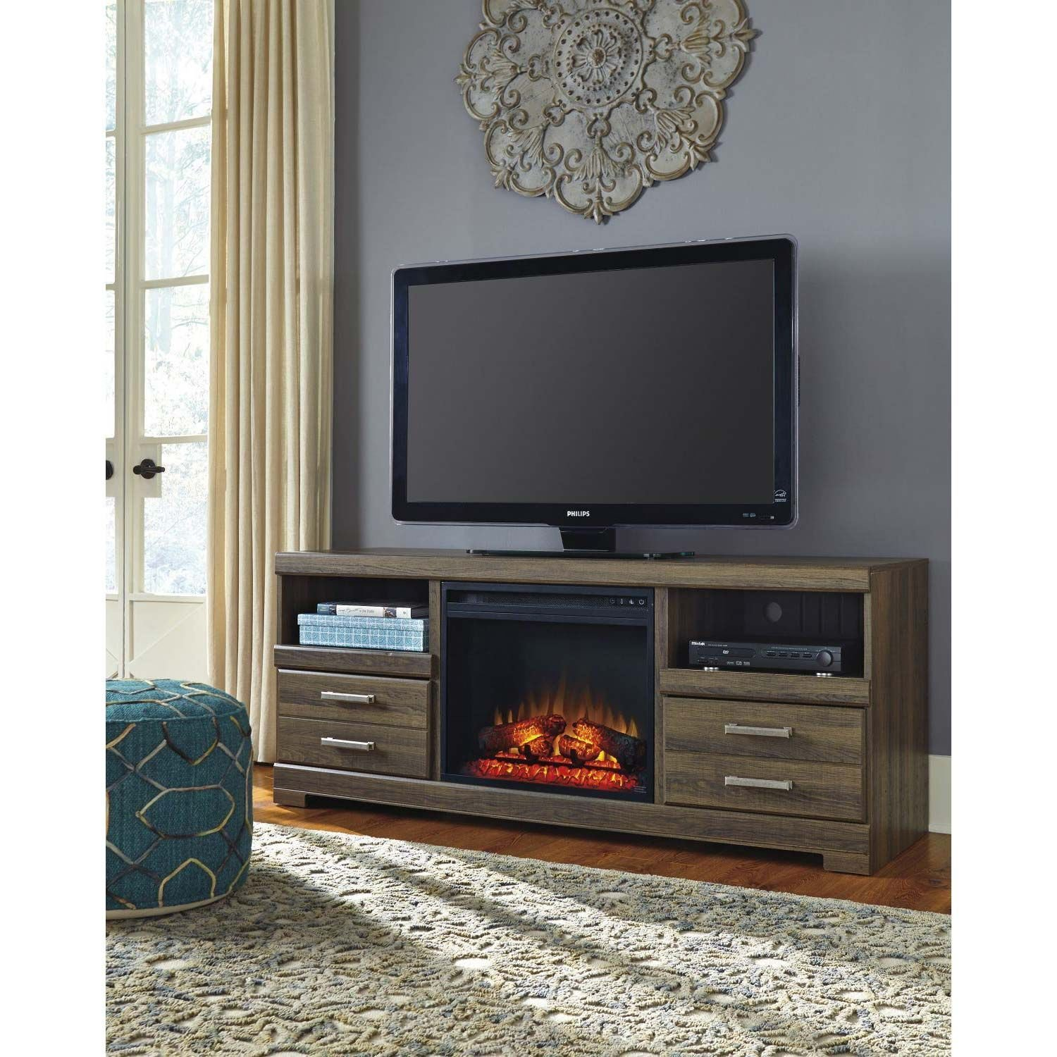 Frantin Fireplace Tv Stand W129 68 Set Ashley Furniture